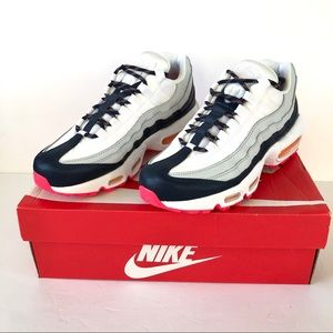 Air Max 95 Midnight Navy/Laser Orange Sneakers 7.5